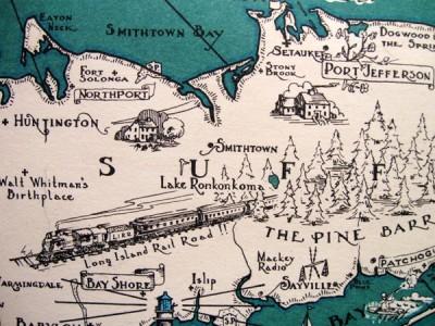 Map Long Island NY