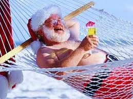SantaDrinking